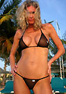 lori in a malibu strings bikini