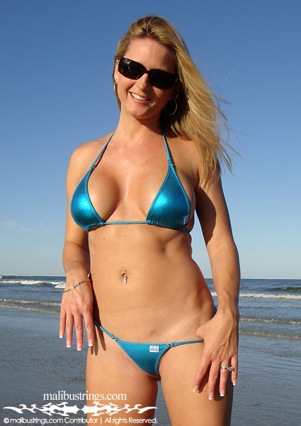 Amy M in a Malibu Strings bikini in Huguenot Park, FL.