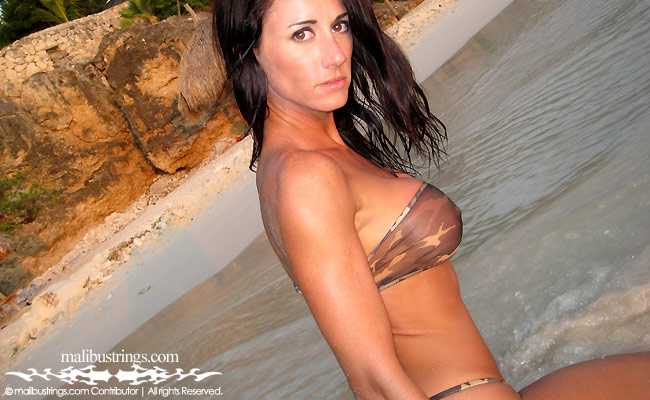 Cristin in a Malibu Strings bikini in Curacao.