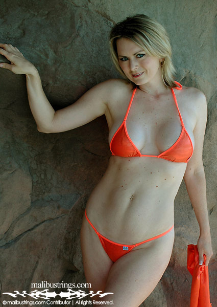 Lori C in a Malibu Strings bikini at the Rio in Las Vegas.