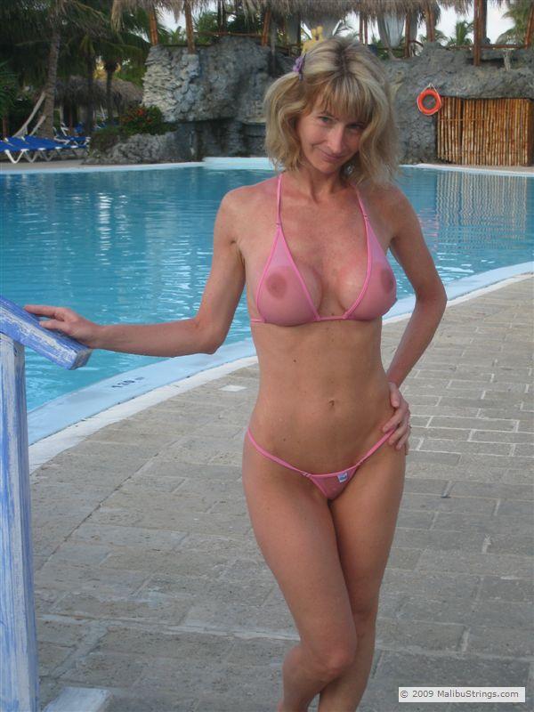 For Milf in sheer bikini join. was