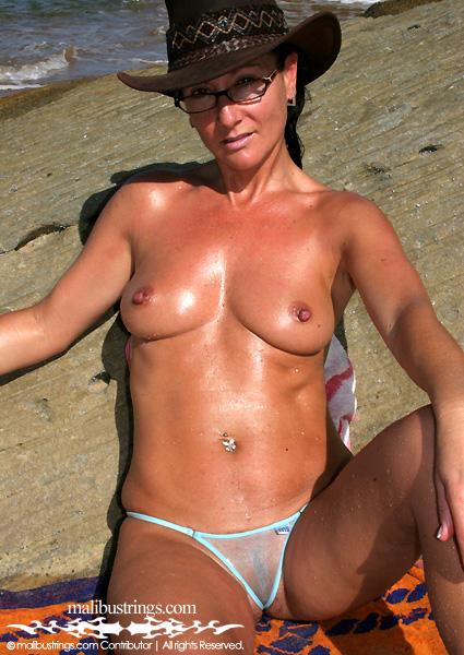 Sue ellen malibu strings naked