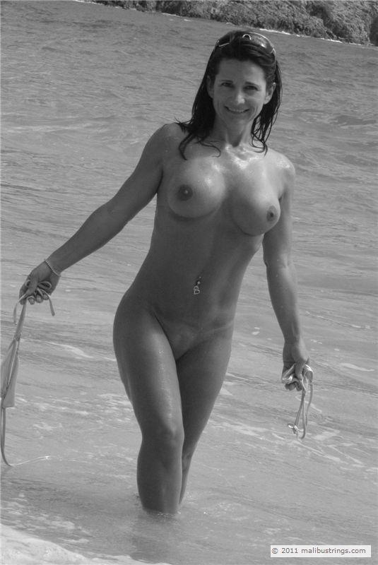 Debbie b malibu strings naked