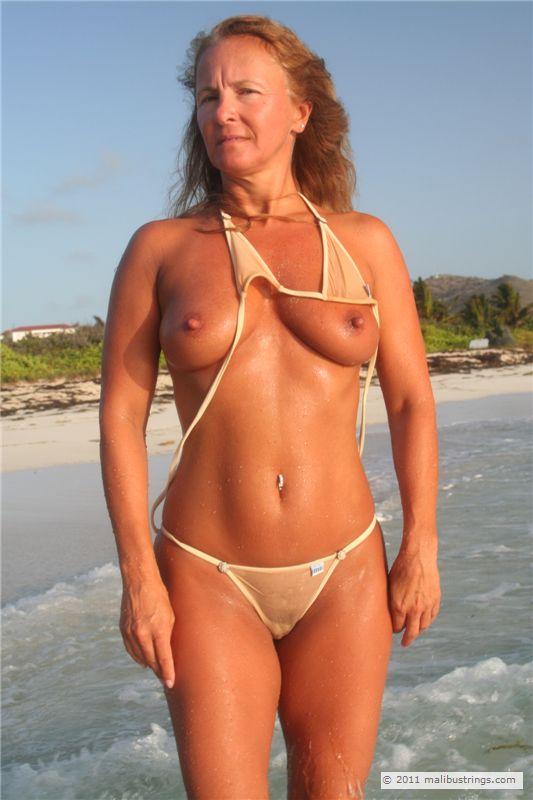Sheer bikini comp