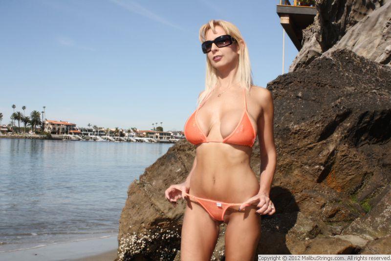 Bikini malibu strings connie