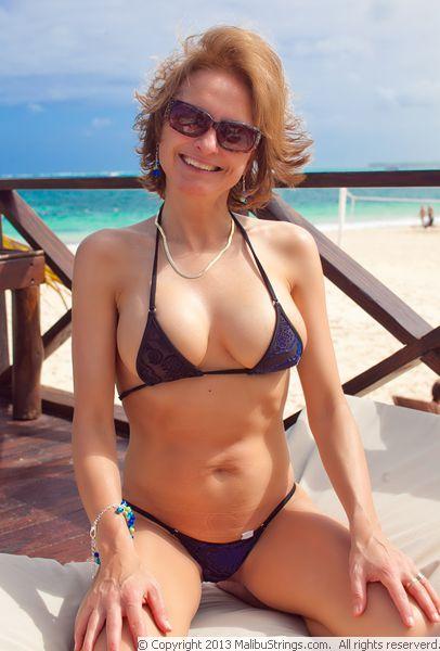 Single string bikini wife