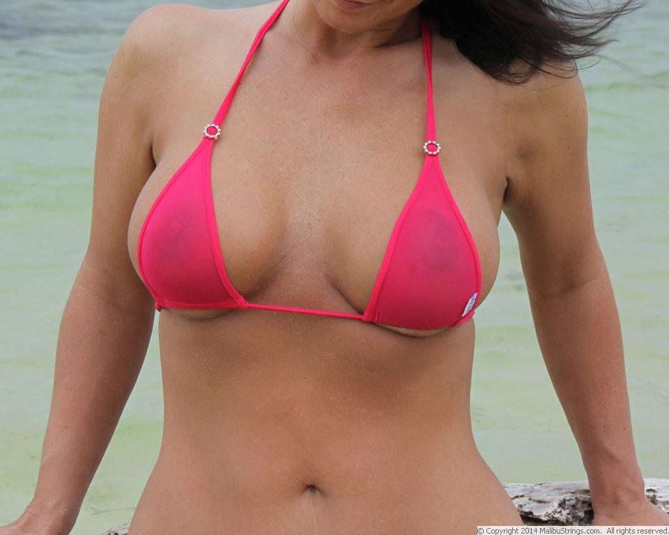 Sheer gidget string bikini