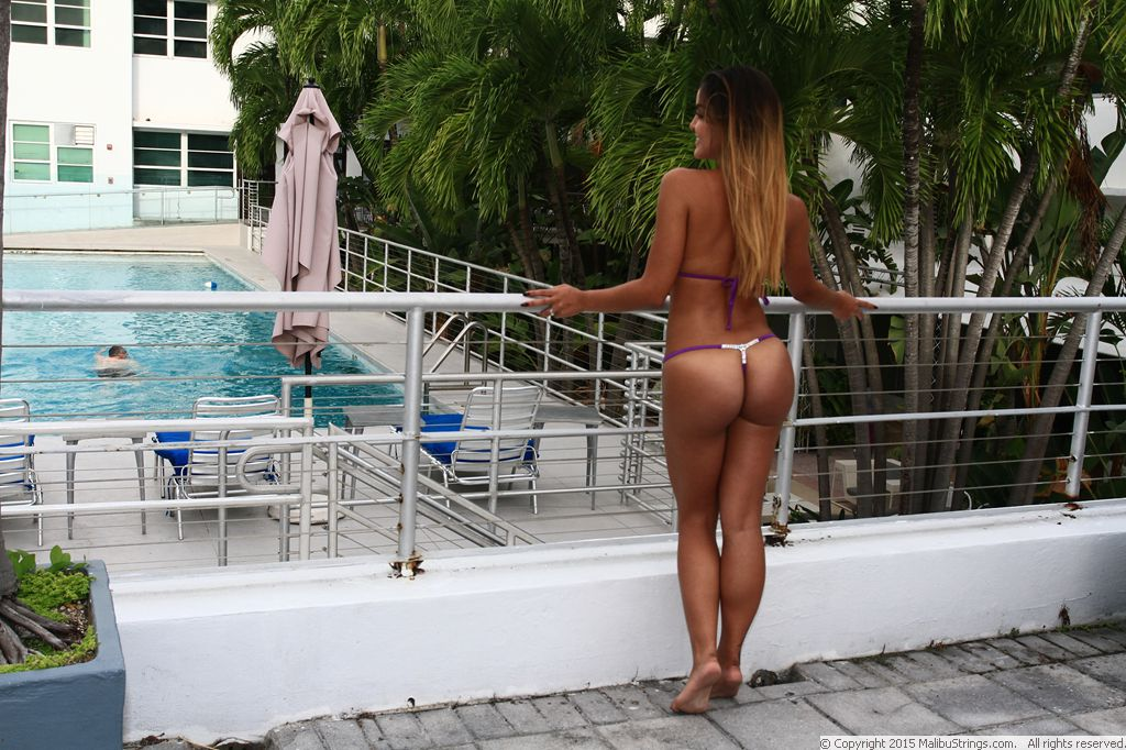 Sheer when wet swimwear and flashing 6