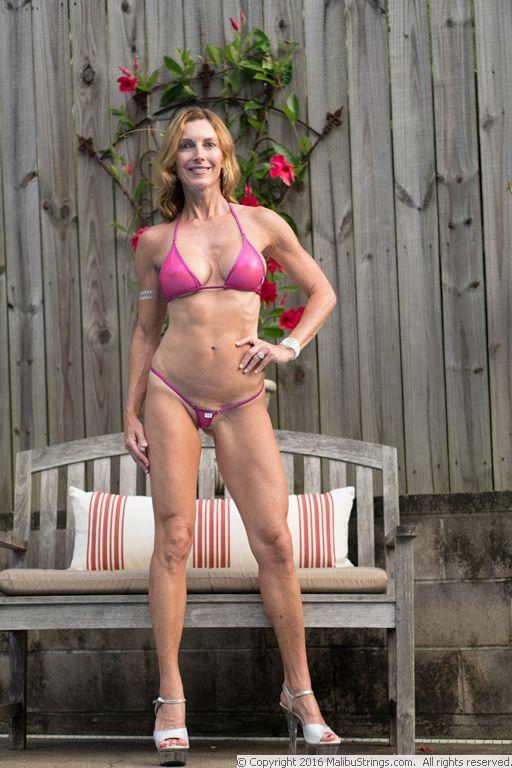 Sheer bikini comp with you