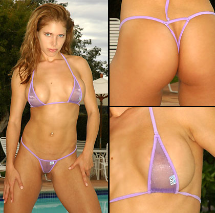 Malibu Sparkle Sheer Bikini (Tiny Bottom)