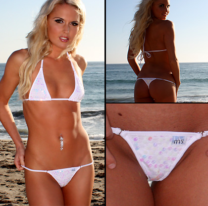 White Pearl Sequins Malibu Micro Bikini Magic white pearl sequins fabric ...